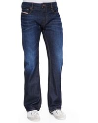 Diesel Zatiny 73n Dark  Faded Jeans - Lyst