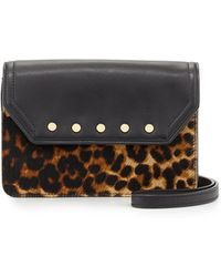 Milly Logan Leopardprint Calf Hair Mini Crossbody Bag - Lyst