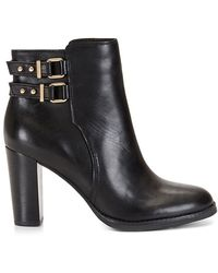 C. Wonder Leather Double Strap Block Heel Bootie - Lyst