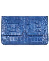 Vince - Signature Croc Clutch Bag - Lyst