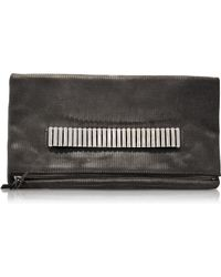McQ by Alexander McQueen Metal Bar Fold Clutch - Lyst