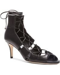 Jimmy Choo | Myrtle Leather Lace Up Heels | Lyst
