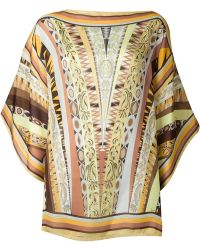 Emilio Pucci Printed Oversized Blouse - Lyst