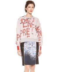 Preen By Thornton Bregazzi - Slogan Print Sweatshirt - Lyst