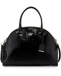 Kate Spade Cedar Street Pearl Domed Satchel Bag Black - Lyst