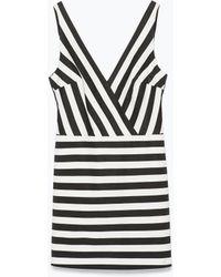 Zara Striped Jumpsuit - Lyst