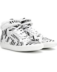 Pierre Hardy Mytheresacom Exclusive Leather High-top Sneakers - Lyst