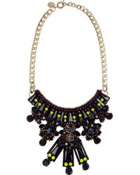 Matthew Williamson - Gold-Plated, Crystal And Acrylic Necklace - Lyst