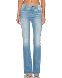 7 For All Mankind Bootcut High-waisted Stretch-denim Jeans - Lyst