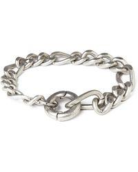 Cheap Monday Hockney Bracelet - Silver - Lyst
