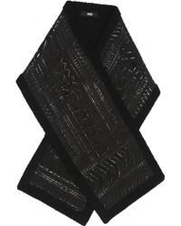 KTZ | Dogtooth Patchwork Long Scarf Black | Lyst
