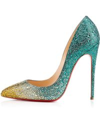 Christian Louboutin Pigalle Follies Strass - Lyst