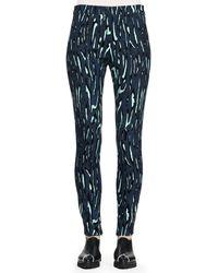 Proenza Schouler Printed Flocked Slim Pants - Lyst