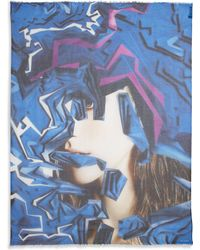 Yigal Azrouel Graphic Explosion Modal  Cashmere Scarf - Lyst