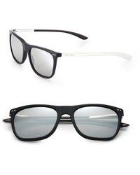 Giorgio Armani 55Mm Acetate Rectangle Sunglasses black - Lyst