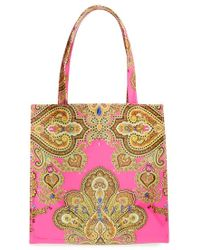 Ted Baker 'Small Jewel Paisley Icon' Tote - Lyst