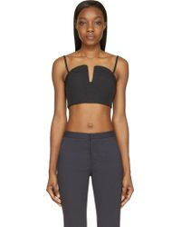Opening Ceremony Black Court Bonded Sweetheart Bustier - Lyst