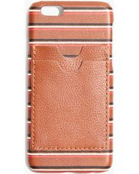 Madewell | Leather Carryall Case For Iphone® 6 In Stripe | Lyst