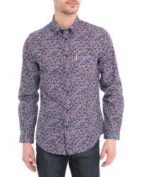 Ben Sherman Shirt With Mini Button Print - Lyst