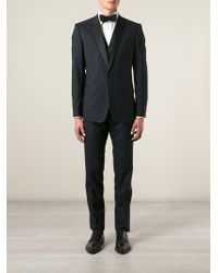 Dolce & Gabbana Three-Piece Dinner Piped Suit - Lyst