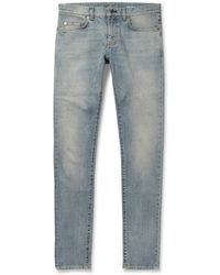 Saint Laurent Slim Fit 155cm Hem Denim Jeans - Lyst
