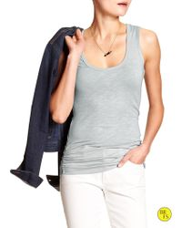 Banana Republic Factory Ruched Tank - Lyst