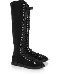 Alexander Wang Emanuel Suede Knee Boots - Lyst