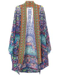 Camilla Embellished Open Coverup - Lyst