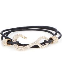 Giles & Brother Leather Hook Wrap Bracelet - Lyst