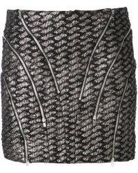 Jay Ahr Geometric Pattern Zipped Skirt - Lyst
