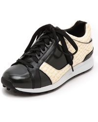 3.1 Phillip Lim Trance Low Top Sneakers  Ivoryhunterblack - Lyst