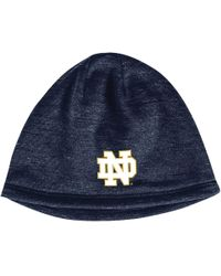 huge selection of 4a55d b182f Under Armour - Notre Dame Fighting Irish College Element Storm Beanie - Lyst