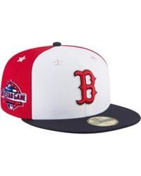 super popular 77ef3 ca462 KTZ Boston Red Sox Mlb White And Black 59fifty Cap in White for Men - Lyst