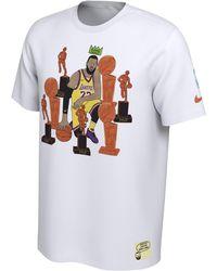c1022e4f Nike - Lebron James Nba Marlon Sassy Doodle Player T-shirt - Lyst