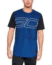 7420c9d4 Under Armour Men's Sc30 House Of Curry T-shirt in Blue for Men - Lyst
