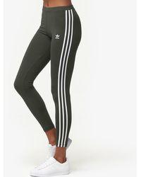9dd5759f159 adidas 3 Stripes Womens Leggings in Black - Lyst