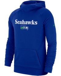 6a5f5bea Nike Therma Player (nfl Seahawks) Men's Hoodie in Blue for Men - Lyst