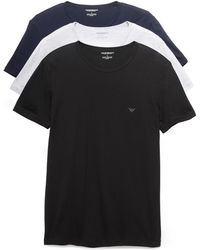 Emporio Armani - 3 Pack Genuine Cotton Crew Neck Tees - Lyst