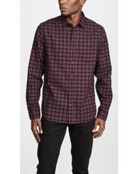 Vince - Gingham Classic Shirt - Lyst