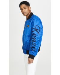 f8b363fa90 KENZO Navy Embroidered Tiger Bamboo Bomber Jacket in Blue for Men - Lyst