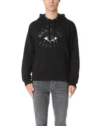 KENZO - Embroidered Eye Icon Hoodie - Lyst