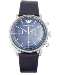 Emporio Armani - Aviator Watch, 43mm - Lyst