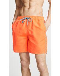 """Sundek - 16"""" Basic Shorts With Piping - Lyst"""