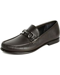 Ferragamo - Crown Bit Loafers - Lyst