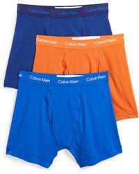 Calvin Klein - 3 Pack Cotton Stretch Briefs - Lyst