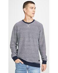 RVCA Luxury Crew Neck Sweatshirt - Blue