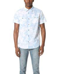 Calvin Klein Jeans - Floral Shadow Print Short Sleeve Shirt - Lyst