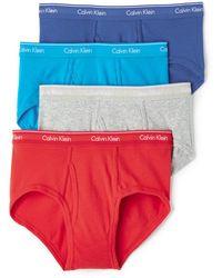 CALVIN KLEIN 205W39NYC - Cotton Classic 4 Pack Briefs - Lyst
