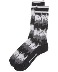 White Mountaineering - Wave Camouflage Socks - Lyst