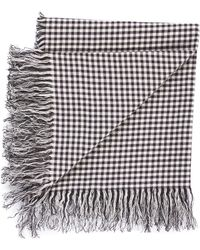 Our Legacy - Linen Gingham Scarf - Lyst